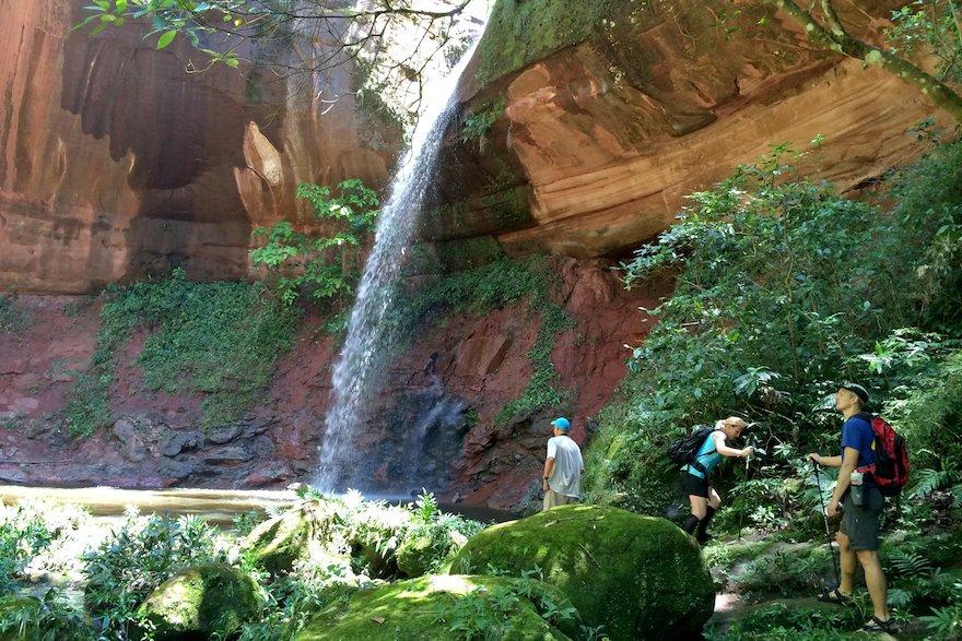 Bolivien Amboro Nationalpark Jardin de las Delicias Wasserfall