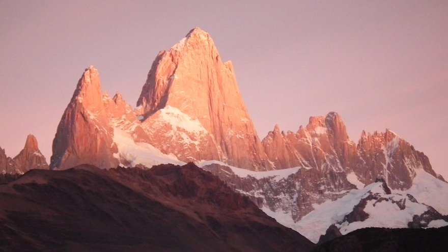 Sonnenaufgang am Fitz Roy Nationalpark Los Glaciares Patagonien Chile
