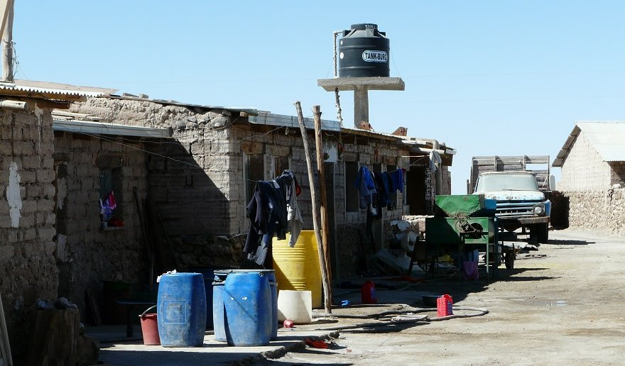 Bolivien Colchani Salzfabrik
