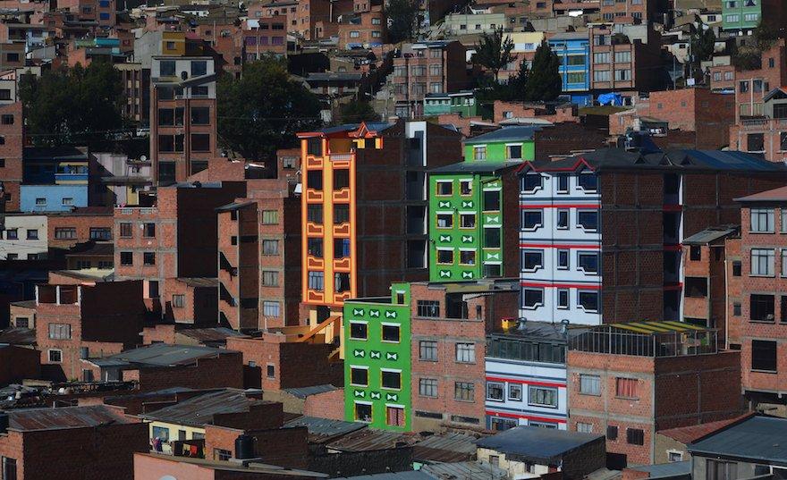 Bolivien La Paz Cholets in El Alto