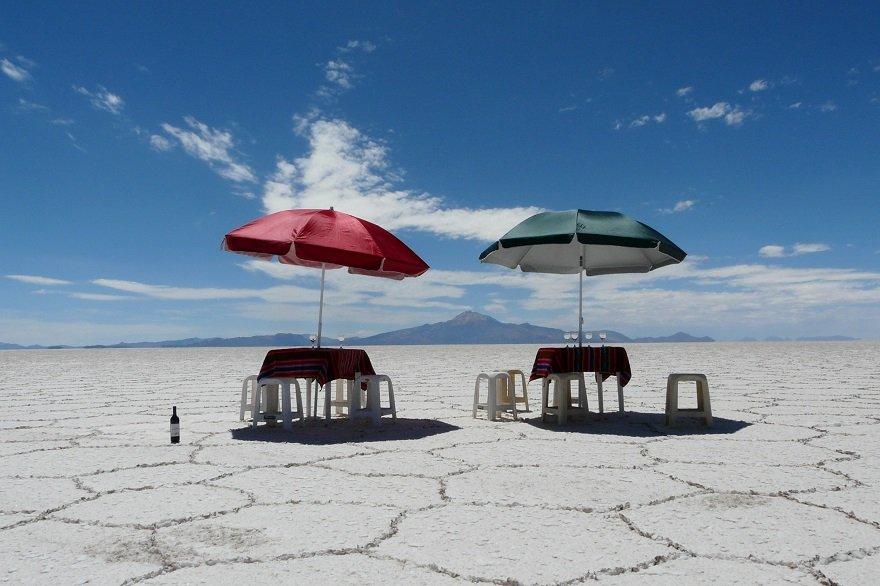 Bolivien Salar de Uyuni Mittagessen