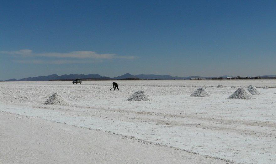 Bolivien Salar de Uyuni Salzabbau