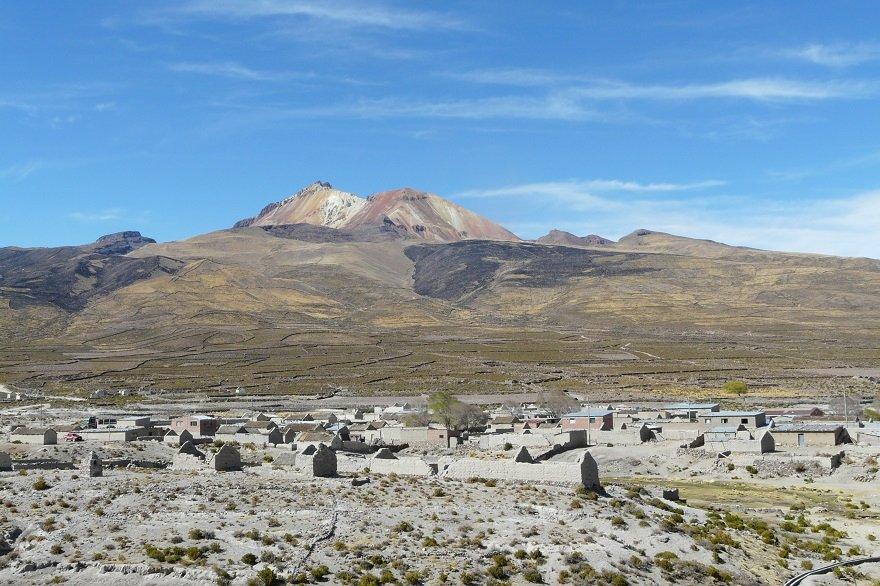 Bolivien Salar de Uyuni Vulkan Tunupa