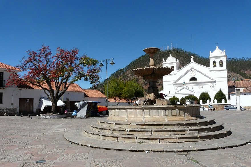 Bolivien Sucre Plaza Pedro de Anzúres
