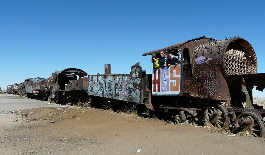 Bolivien Uyuni Eisenbahnfriedhof