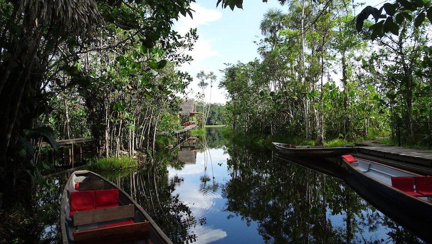 Ecuador Amazonas Sacha Lodge Kanus