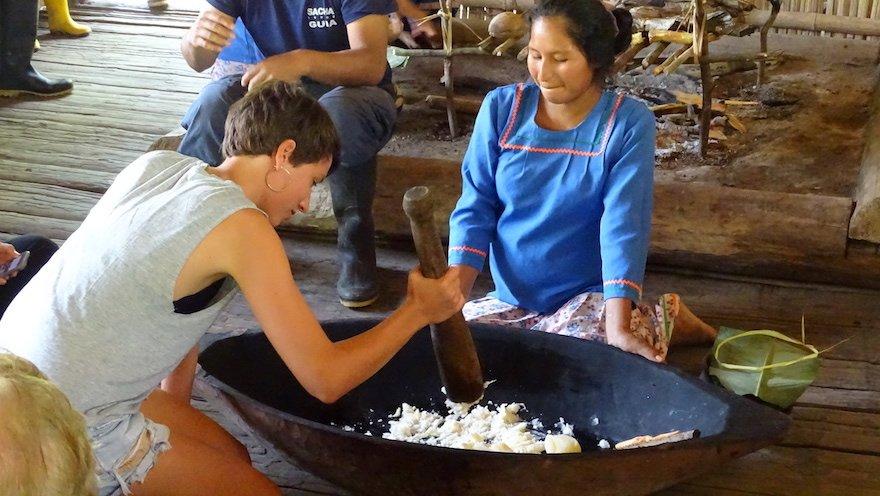 Ecuador Amazonas Yasuni indigene Gemeinde