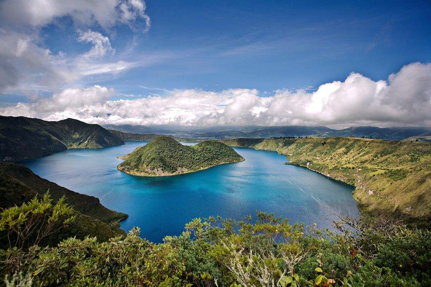 Ecuador Norden Cuicocha Lagune