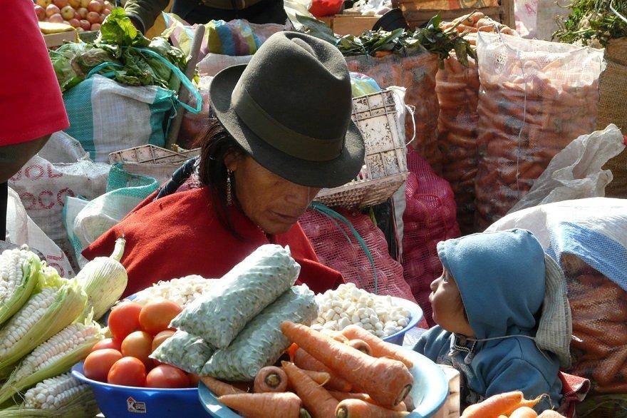 Ecuador Norden Otavalo Markt