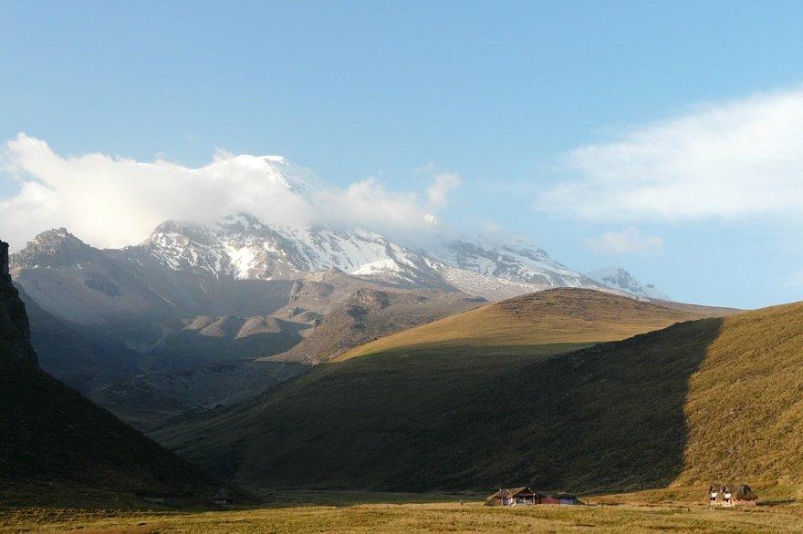 Ecuador Straße der Vulkane Chimborazo Umrundung