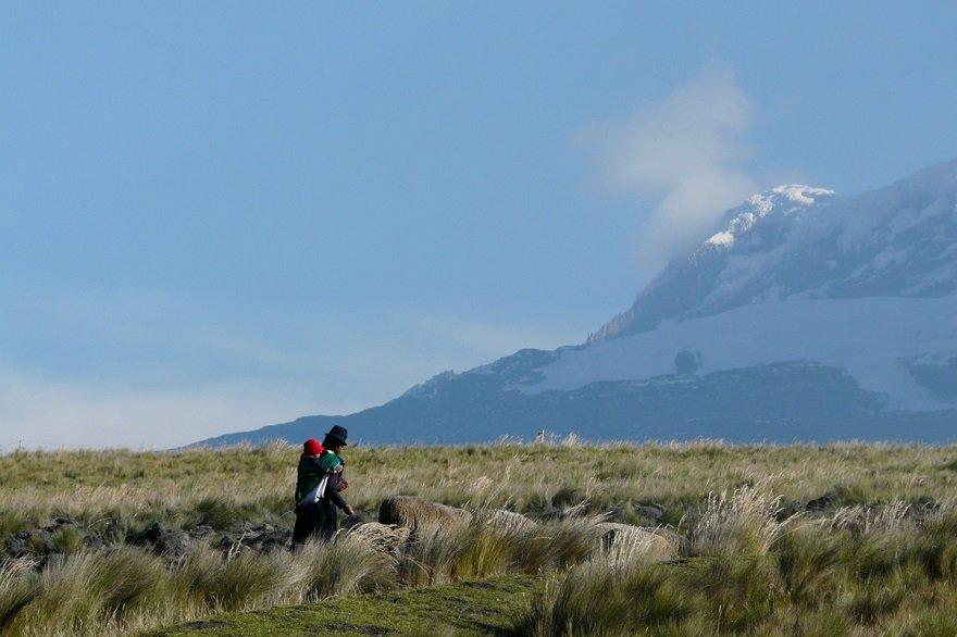Ecuador Straße der Vulkane Chimborazo Kulturlandschaft