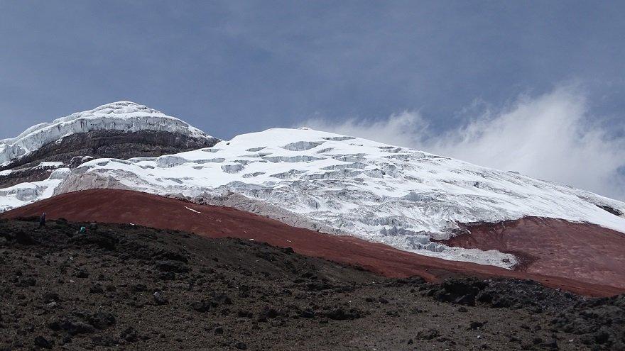 Ecuador Straße der Vulkane Cotopaxi Gipfelgletscher