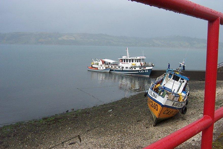 Insel Chiloé Boote seenregion chile