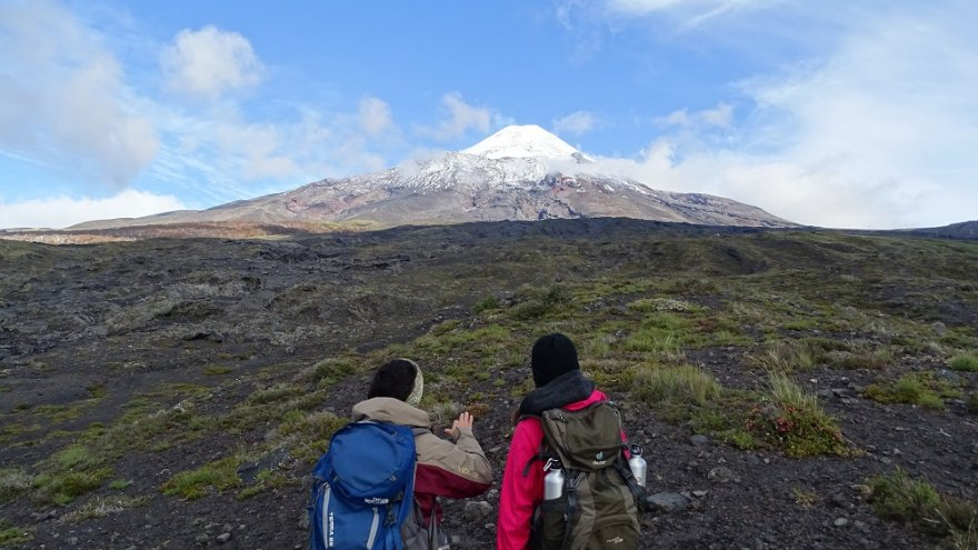 Vulkan Villarrica seenregion kleiner süden araukarien vulkane chile