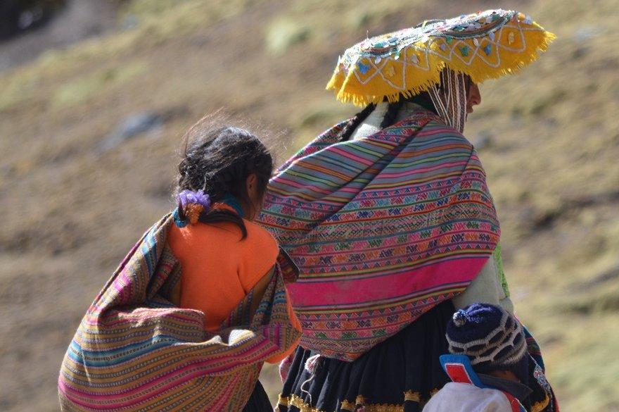 Peru Anden indigene Familie
