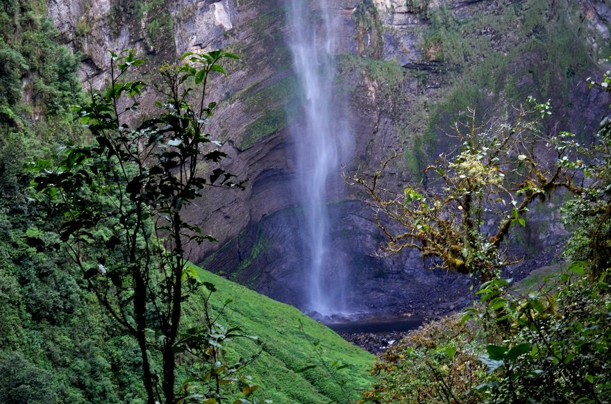 Peru Norden Chachapoyas Gocta Wasserfall