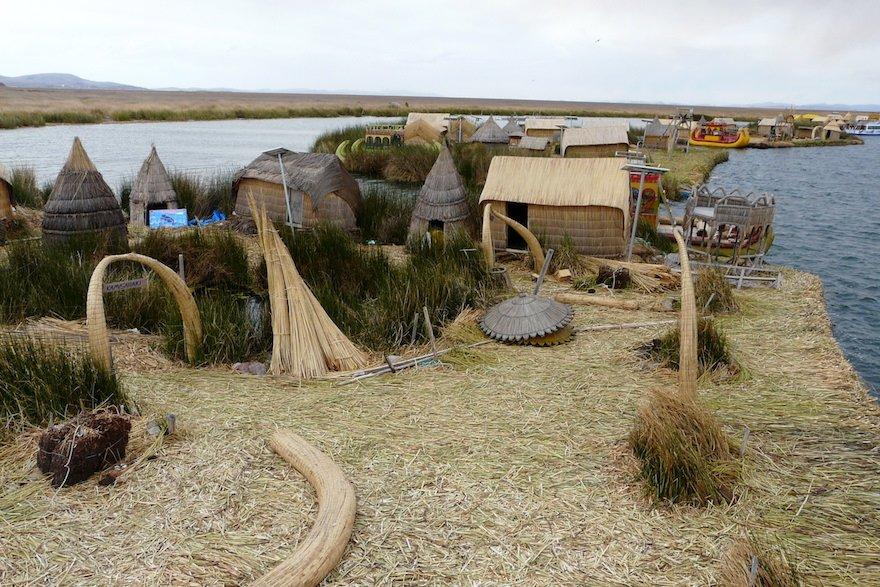 Uros Inseln Titicaca See Peru