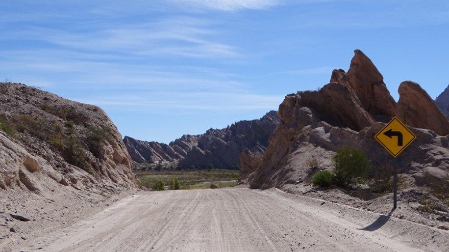 Quebrada de las Flechas Ruta 40 Argentinen Anden NOA