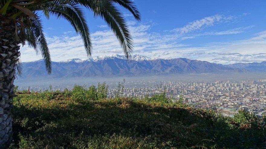 Blick vom Cerro San Cristóbal santiago de chile anden chile zentralregion
