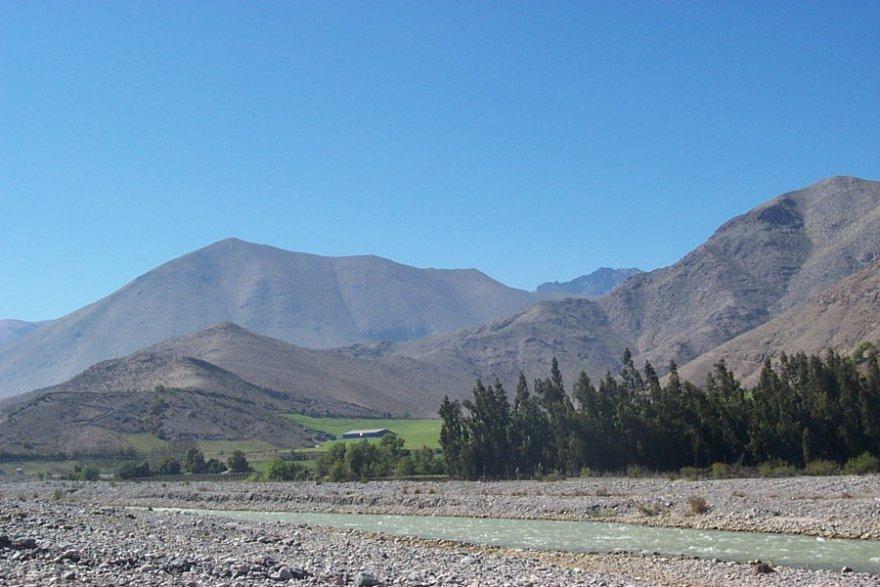 Río Aconcagua zentralregion anden chile