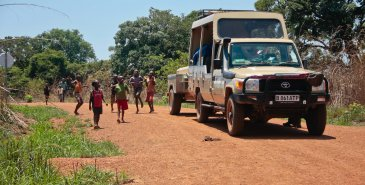 Auf dem Weg nach Kasempa, Sambia