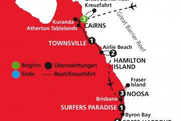 Australiens zauberhafte Ostküste - deutschsprachige Busrundreise
